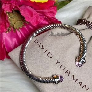 David Yurman Jewelry - ❤️ David Yurman Cable Bracelet Amethyst & Diamonds